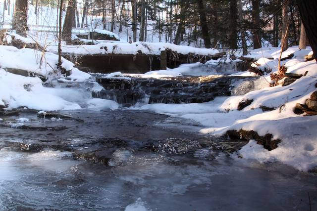Creek behind the Glen Falls House.